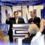 With Governor Chris Christie at a campaign visit -- 2010